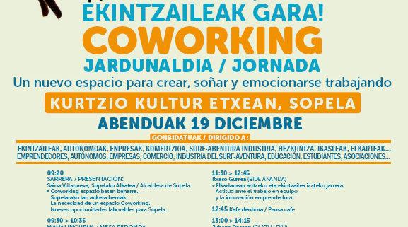 Cartel del evento coworking Sopelan