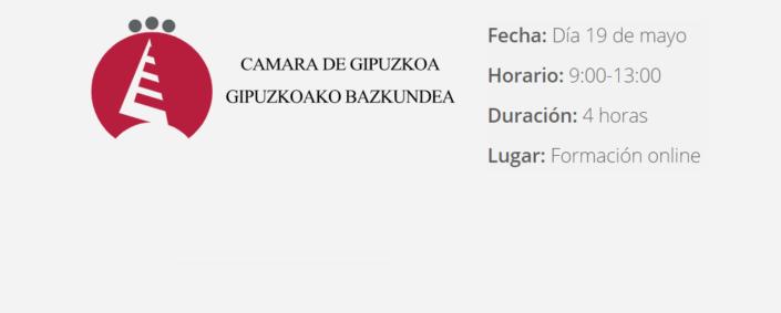 Curso online Camara de Gipuzkoa